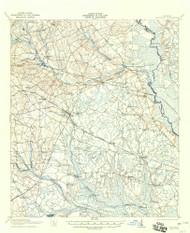 Brooklet, Georgia 1921 () USGS Old Topo Map Reprint 15x15 GA Quad 247357