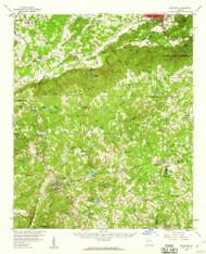 Buchanan, Georgia 1958 (1960) USGS Old Topo Map Reprint 15x15 GA Quad 247363
