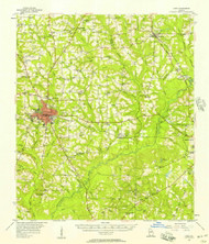 Cairo, Georgia 1956 (1957) USGS Old Topo Map Reprint 15x15 GA Quad 247373