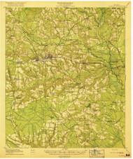 Claxton, Georgia 1919 () USGS Old Topo Map Reprint 15x15 GA Quad 247384