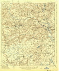 Claxton, Georgia 1919 (1943) USGS Old Topo Map Reprint 15x15 GA Quad 247385