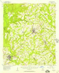 Cochran, Georgia 1956 (1957) USGS Old Topo Map Reprint 15x15 GA Quad 247389