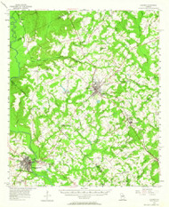 Cochran, Georgia 1956 (1964) USGS Old Topo Map Reprint 15x15 GA Quad 247390
