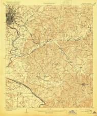 Columbus, Georgia 1908 (1920) USGS Old Topo Map Reprint 15x15 GA Quad 247394