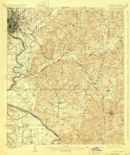 Columbus, Georgia 1908 (1928) USGS Old Topo Map Reprint 15x15 GA Quad 247397
