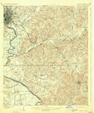 Columbus, Georgia 1908 (1931) USGS Old Topo Map Reprint 15x15 GA Quad 247399