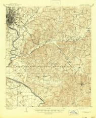 Columbus, Georgia 1908 (1945) USGS Old Topo Map Reprint 15x15 GA Quad 247400