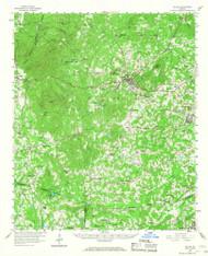 Dallas, Georgia 1958 (1968) USGS Old Topo Map Reprint 15x15 GA Quad 247412