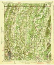 Dalton, Georgia 1943 () USGS Old Topo Map Reprint 15x15 GA Quad 247418