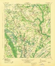 Egypt, Georgia 1943 () USGS Old Topo Map Reprint 15x15 GA Quad 247424
