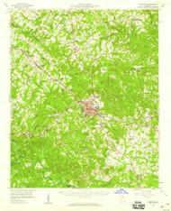 Elberton, Georgia 1958 (1959) USGS Old Topo Map Reprint 15x15 GA Quad 247427