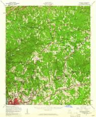 Ellerslie, Georgia 1955 (1961) USGS Old Topo Map Reprint 15x15 GA Quad 247430