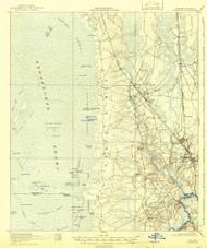 Folkston, Georgia 1918 (1942) USGS Old Topo Map Reprint 15x15 GA Quad 247437