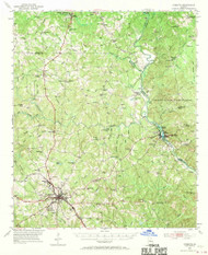 Forsyth, Georgia 1951 (1970) USGS Old Topo Map Reprint 15x15 GA Quad 247439
