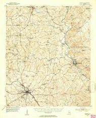 Forsyth, Georgia 1951 (1953) USGS Old Topo Map Reprint 15x15 GA Quad 247440