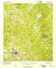 Forsyth, Georgia 1951 (1953) USGS Old Topo Map Reprint 15x15 GA Quad 247441
