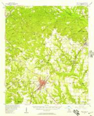 Fort Valley, Georgia 1956 (1957) USGS Old Topo Map Reprint 15x15 GA Quad 247444
