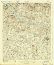 Gough, Georgia 1919 (1942) USGS Old Topo Map Reprint 15x15 GA Quad 247455