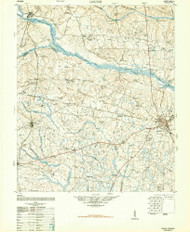 Gough, Georgia 1948 () USGS Old Topo Map Reprint 15x15 GA Quad 247456