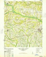 Gough, Georgia 1948 () USGS Old Topo Map Reprint 15x15 GA Quad 247457