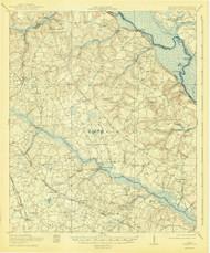 Greens Cut, Georgia 1920 (1943) USGS Old Topo Map Reprint 15x15 GA Quad 247460