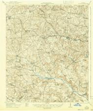 Harlem, Georgia 1922 (1942) USGS Old Topo Map Reprint 15x15 GA Quad 247466