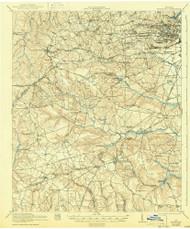 Hephzibah, Georgia 1922 (1943) USGS Old Topo Map Reprint 15x15 GA Quad 247471