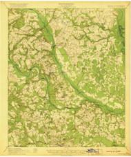 Hilltonia, Georgia 1920 () USGS Old Topo Map Reprint 15x15 GA Quad 247475