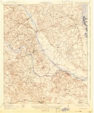 Hilltonia, Georgia 1920 (1942) USGS Old Topo Map Reprint 15x15 GA Quad 247476