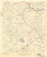 Hinesville, Georgia 1918 (1943) USGS Old Topo Map Reprint 15x15 GA Quad 247479