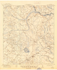 Hinesville, Georgia 1918 (1944) USGS Old Topo Map Reprint 15x15 GA Quad 247480