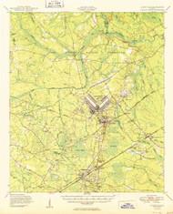 Hinesville, Georgia 1950 () USGS Old Topo Map Reprint 15x15 GA Quad 247481