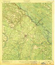 Jesup, Georgia 1918 () USGS Old Topo Map Reprint 15x15 GA Quad 247491