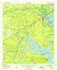 Limerick, Georgia 1950 () USGS Old Topo Map Reprint 15x15 GA Quad 247502