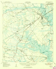 Limerick, Georgia 1950 () USGS Old Topo Map Reprint 15x15 GA Quad 247503