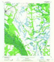 Ludowici, Georgia 1943 (1965) USGS Old Topo Map Reprint 15x15 GA Quad 247504