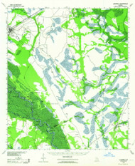 Ludowici, Georgia 1943 (1964) USGS Old Topo Map Reprint 15x15 GA Quad 247505