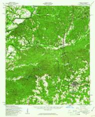 Lumpkin, Georgia 1955 (1961) USGS Old Topo Map Reprint 15x15 GA Quad 247508