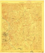 Milledgeville, Georgia 1912 () USGS Old Topo Map Reprint 15x15 GA Quad 247515