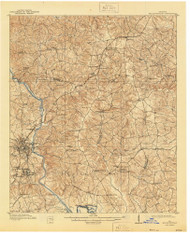 Milledgeville, Georgia 1912 (1944) USGS Old Topo Map Reprint 15x15 GA Quad 247518