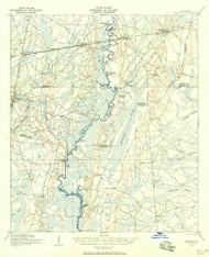 Nahunta, Georgia 1917 (1958) USGS Old Topo Map Reprint 15x15 GA Quad 247529