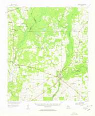 Newton, Georgia 1956 (1958) USGS Old Topo Map Reprint 15x15 GA Quad 247531