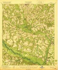 Oliver, Georgia 1920 () USGS Old Topo Map Reprint 15x15 GA Quad 247534