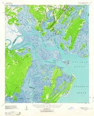 Ossabaw Island, Georgia 1944 (1963) USGS Old Topo Map Reprint 15x15 GA Quad 247537