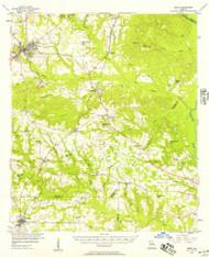 Perry, Georgia 1956 (1957) USGS Old Topo Map Reprint 15x15 GA Quad 247544