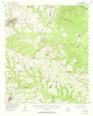 Perry, Georgia 1956 (1968) USGS Old Topo Map Reprint 15x15 GA Quad 247545