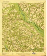 Rocky Ford, Georgia 1921 () USGS Old Topo Map Reprint 15x15 GA Quad 247551