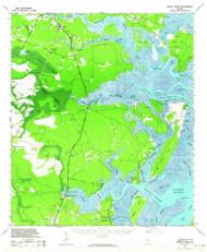 Sapelo River, Georgia 1943 (1964) USGS Old Topo Map Reprint 15x15 GA Quad 247553