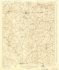 Stapleton, Georgia 1920 (1942) USGS Old Topo Map Reprint 15x15 GA Quad 247561