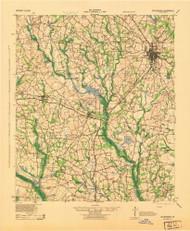 Statesboro, Georgia 1943 () USGS Old Topo Map Reprint 15x15 GA Quad 247568